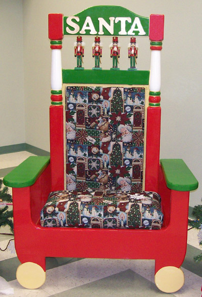 Santa chairs seating for father christmas