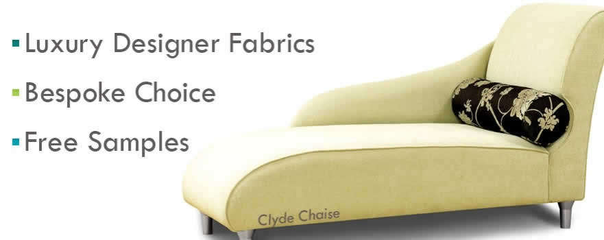 Custom Occasional Chairs and Chaise upholstered with luxury designer fabrics.